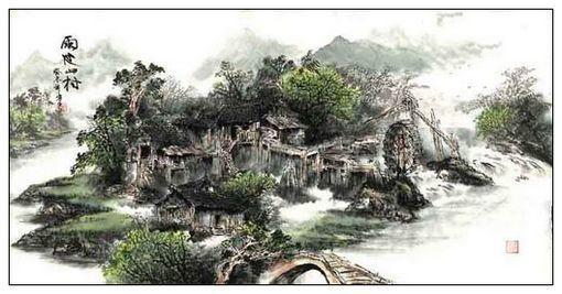 雨过山村图